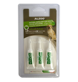 ALZOO NATURAL FLEA & TICK REPELLENT DOG 3ML 3-PACK