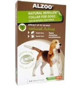 ALZOO NAT REPELLENT F&T MD DOG COLLAR