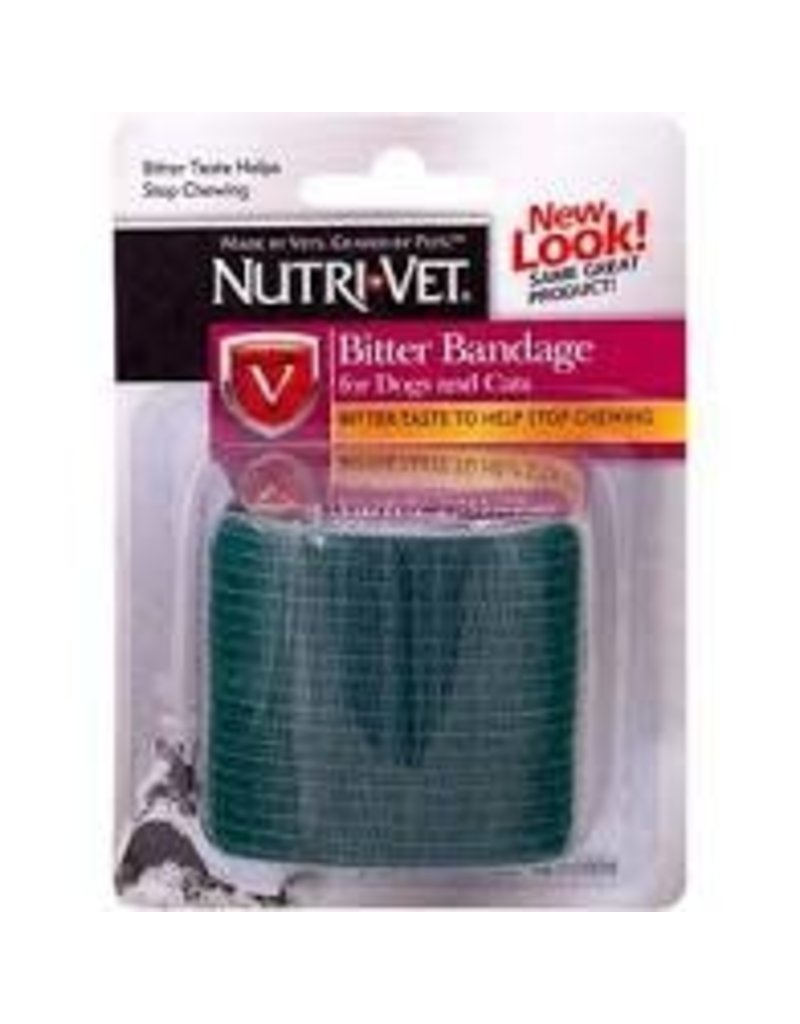 "NUTRI-VET SELF-ADHERING FLEXIBLE BITTER BANDAGE (2""x 5YDS. STRETCHED)"