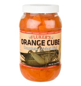 FLUKER LABORATORIES ORANGE CUBE CRICKET DIET 12 OZ