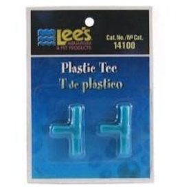 LEE'S AQUARIUM PRODUCTS PLASTIC TEE 2PK
