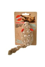 SPOT CHENILLE CHASER MOUSE TOY 2IN AST.COLOR
