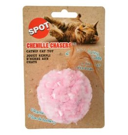 SPOT CHENILLE CHASER BALL TOY 5IN AST.COLOR