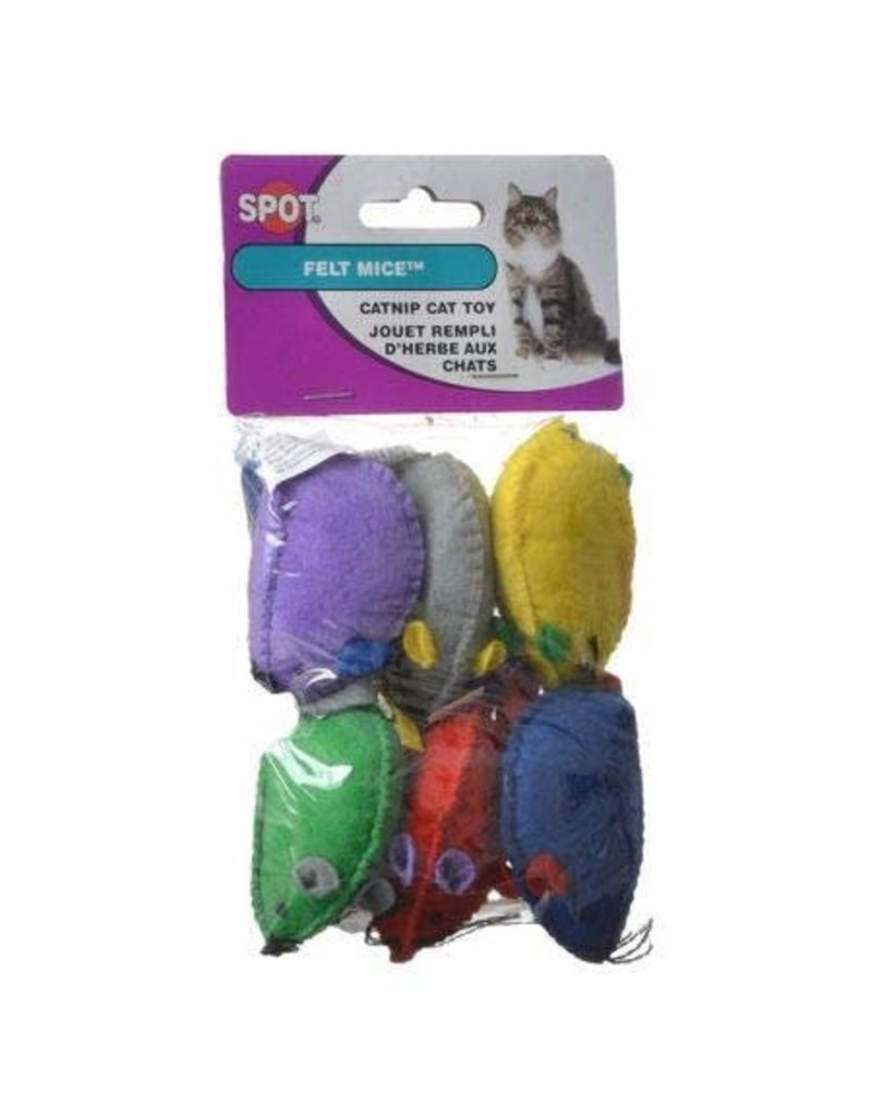 SPOT FELT MICE 6PK WITH CATNIP
