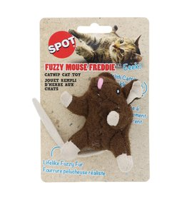 SPOT FUZZYMOUSE CATNIP TOY 3.5IN AST.COLOR