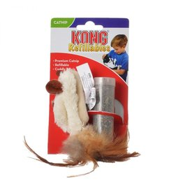 KONG COMPANY KONG REFILLABLES  CATNIP FEATHER MOUSE