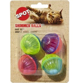 SPOT ETHICAL PRODUCTS SHIMMER BALLS 4PK CAT TOY