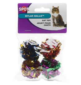 SPOT ETHICAL PRODUCTS MYLAR BALLS 4PK CAT TOY