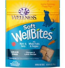 WELLNESS Wellness 6 oz Dog Well Bites  Chick & Lamb Soft Treat GF