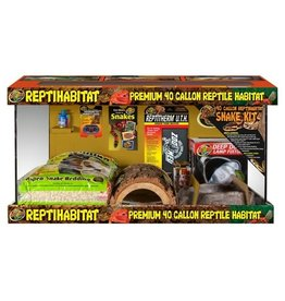 ZOO MED LABORATORIES INC REPTIHABITAT 40 GAL SNAKE KIT