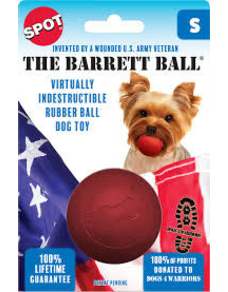 "SPOT ETHICAL PRODUCTS BARRETT BALL SM 2.5"" RED"