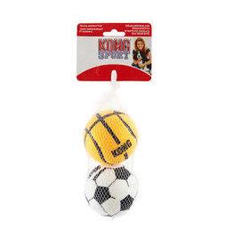 KONG COMPANY LARGE SPORTS BALL 2PK ASSORTED