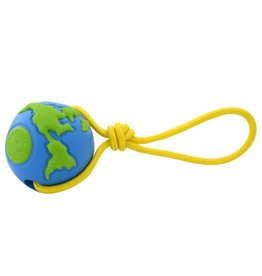 PLANET DOG ORBEE-TUFF GLOBE BALL WITH ROPE DOG TOY