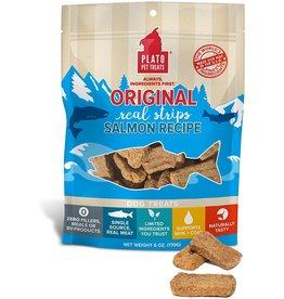 PLATO PET TREATS Plato Salmon Strips 6oz
