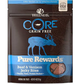 WELLNESS Wellness 4 oz Dog Pure Rewards  Beef & Venison Jerky GF EA