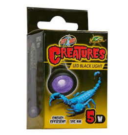 ZOO MED LABORATORIES INC CREATURES BLACK LIGHT 5W