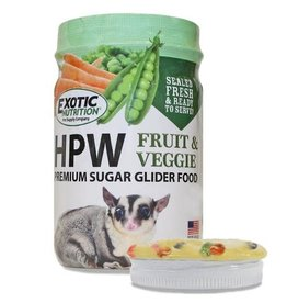 Exotic Nutrition Exotic Nutrition HPW Fruit & Veggie Premium Sugar Glider Food 12oz.