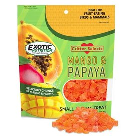 Exotic Nutrition Exotic Nutrition Critter Selects Mango & Papaya Small Animal Treat 4.5oz.