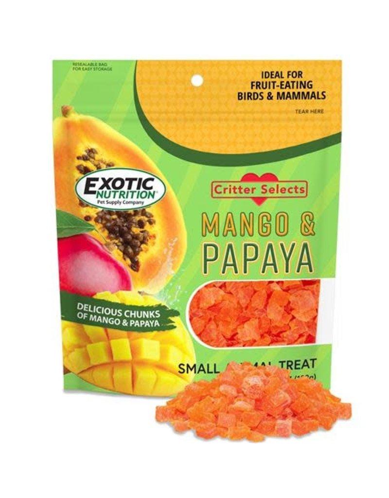 Exotic Nutrition Exotic Nutrition Critter Selects Mango & Papaya Small Animal Treat 4.5oz.
