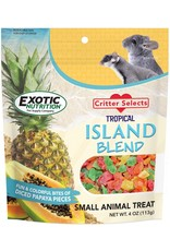 Exotic Nutrition Exotic Nutrition Critter Selects Tropical Island Blend Small Animal Treat 4.5oz.