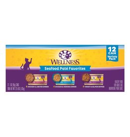 WELLPET LLC WELLNESS SEAFOOD PATE FAVORITES 12 CAN VARIETY PACK
