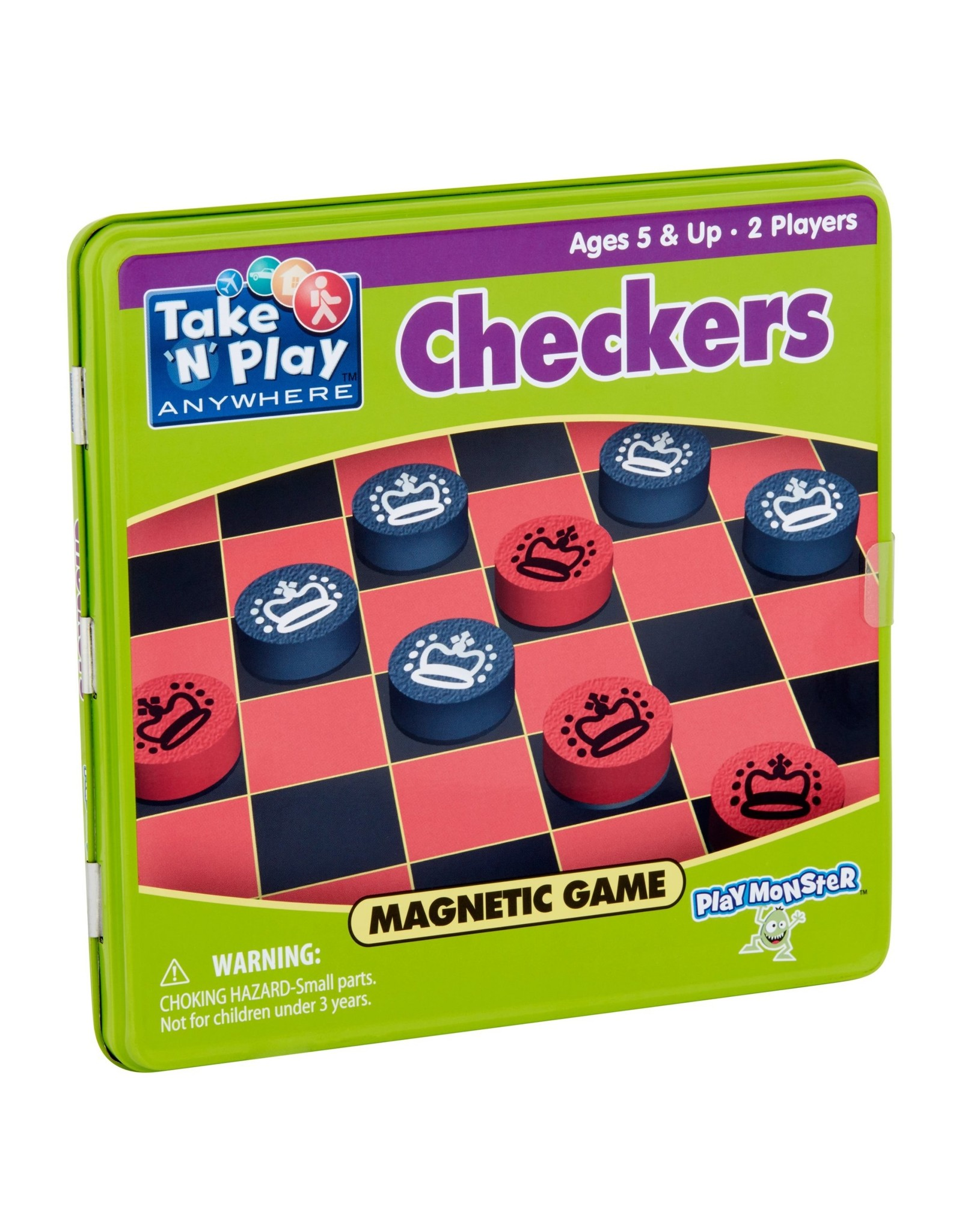 Checkers Magnetic Game Tin