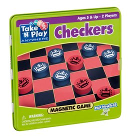 Checkers Magnetic Game Tin - Patch