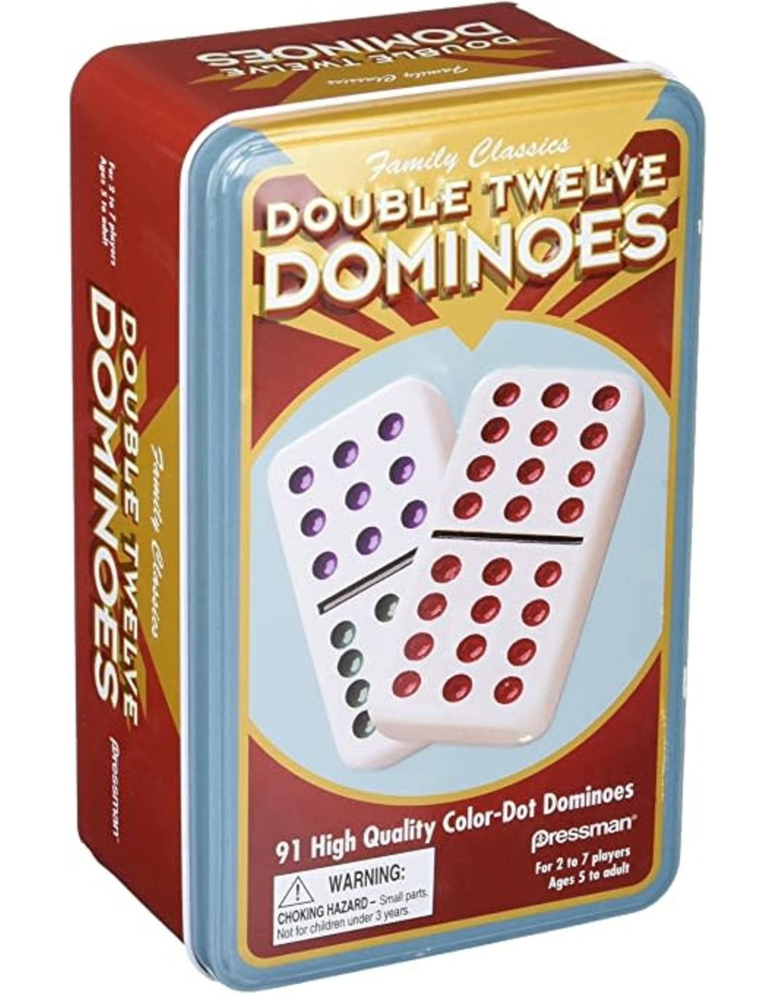 Double Twelve Dominoes Tin