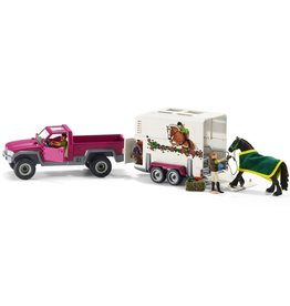 Schleich Pick Up with Horse Trailer