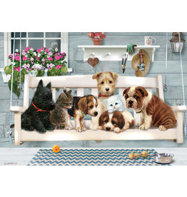Cobble Hill Porch Swing Buddies Tray Puzzle