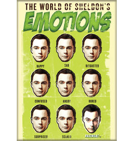 BBT World of Sheldon's Emotions Flat Magnet