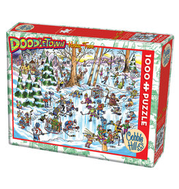 Cobble Hill Doodle Town: Hockey Town 1000 pc