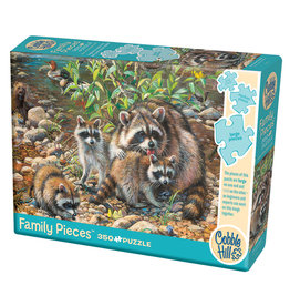 Cobble Hill Raccoon Family 350 pc Family Puzzle