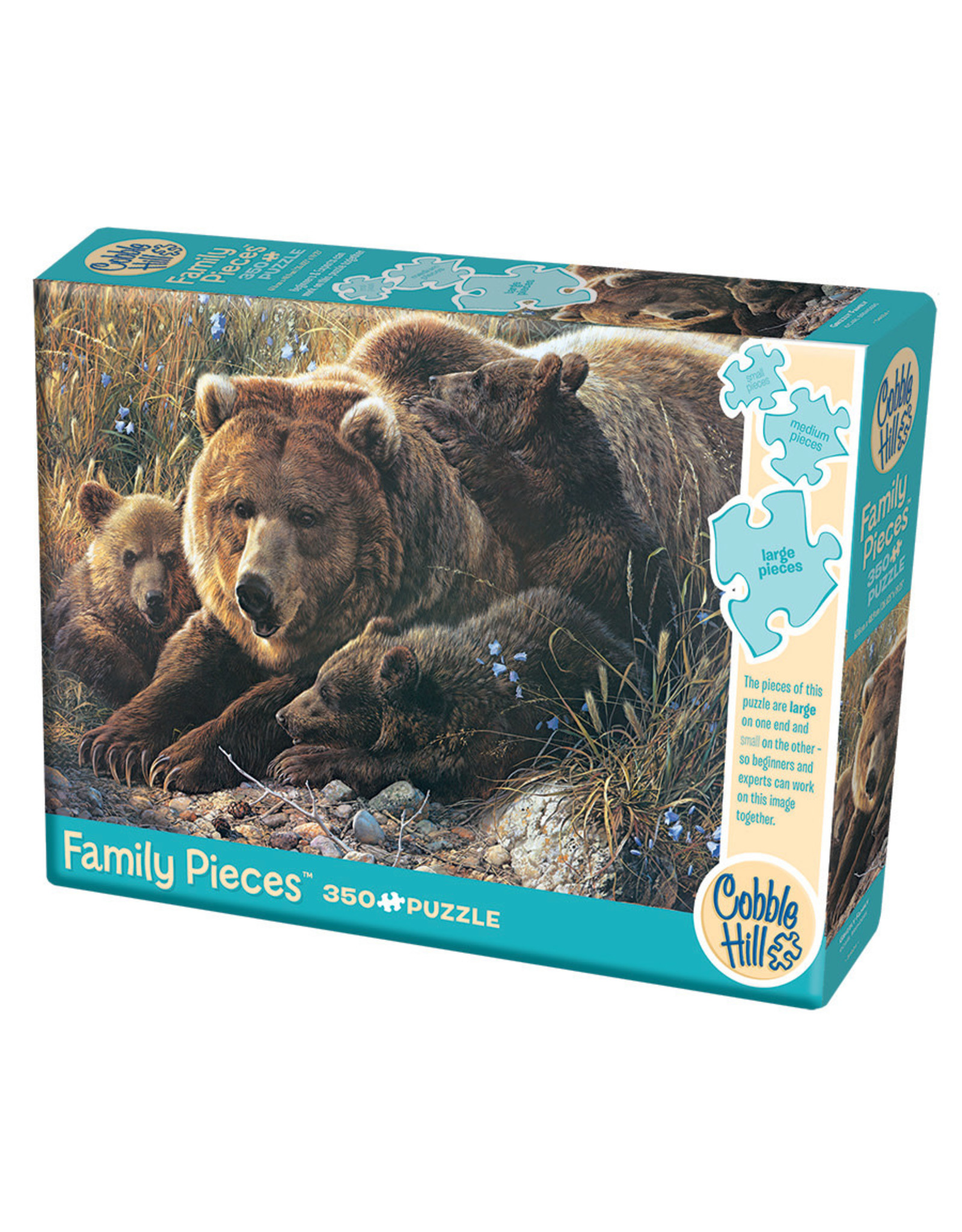 Cobble Hill Grizzly Family 350 pc Family Puzzle