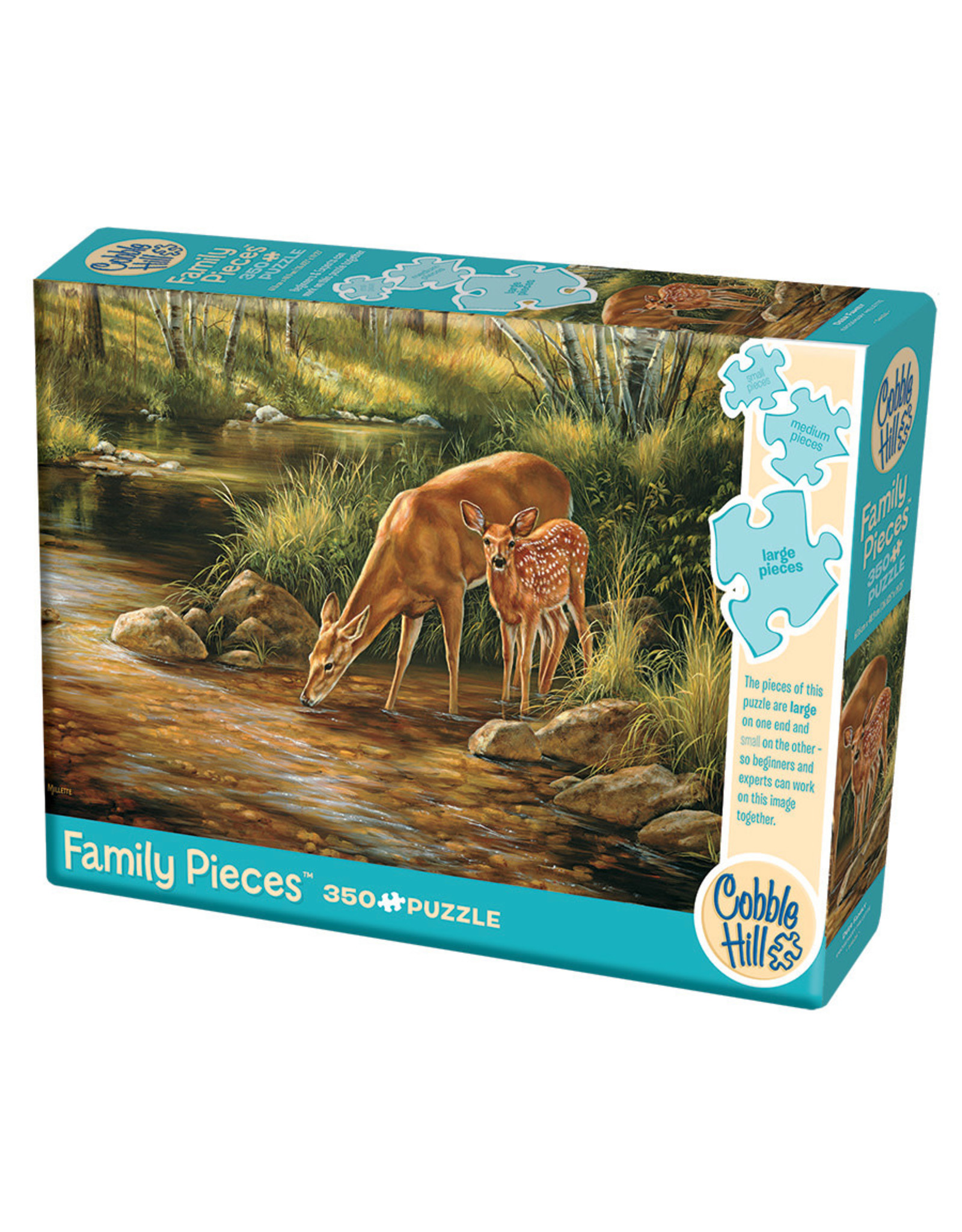 Cobble Hill Deer Family 350 pc Family Puzzle
