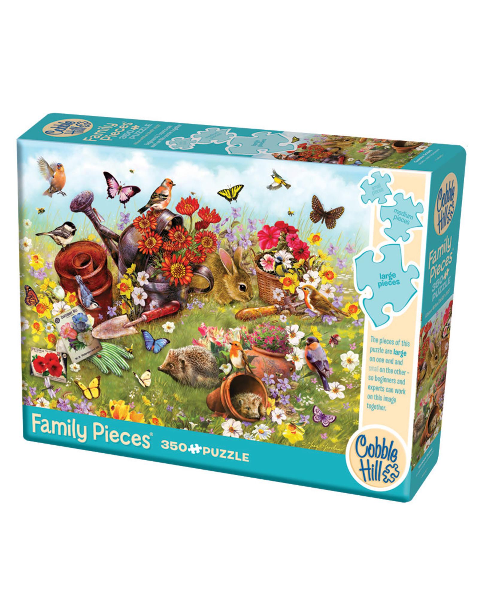 Cobble Hill Garden Scene 350 pc Family Puzzle