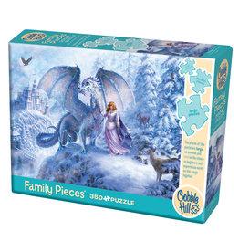 Cobble Hill Ice Dragon 350 pc Family Puzzle