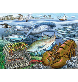 Cobble Hill Life in the Atlantic Ocean Tray Puzzle