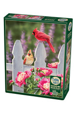 Cobble Hill Cardinals and Peonies 1000 pc