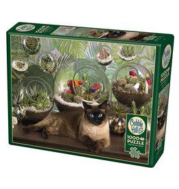 Cobble Hill Terrarium Cat 1000 pc