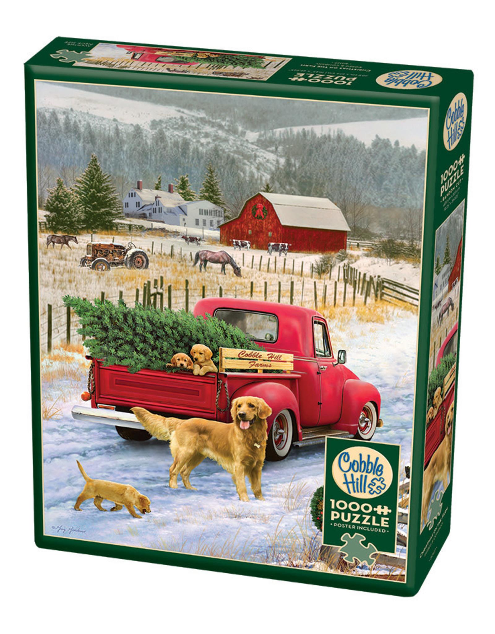 Cobble Hill Christmas on the Farm 1000 pc