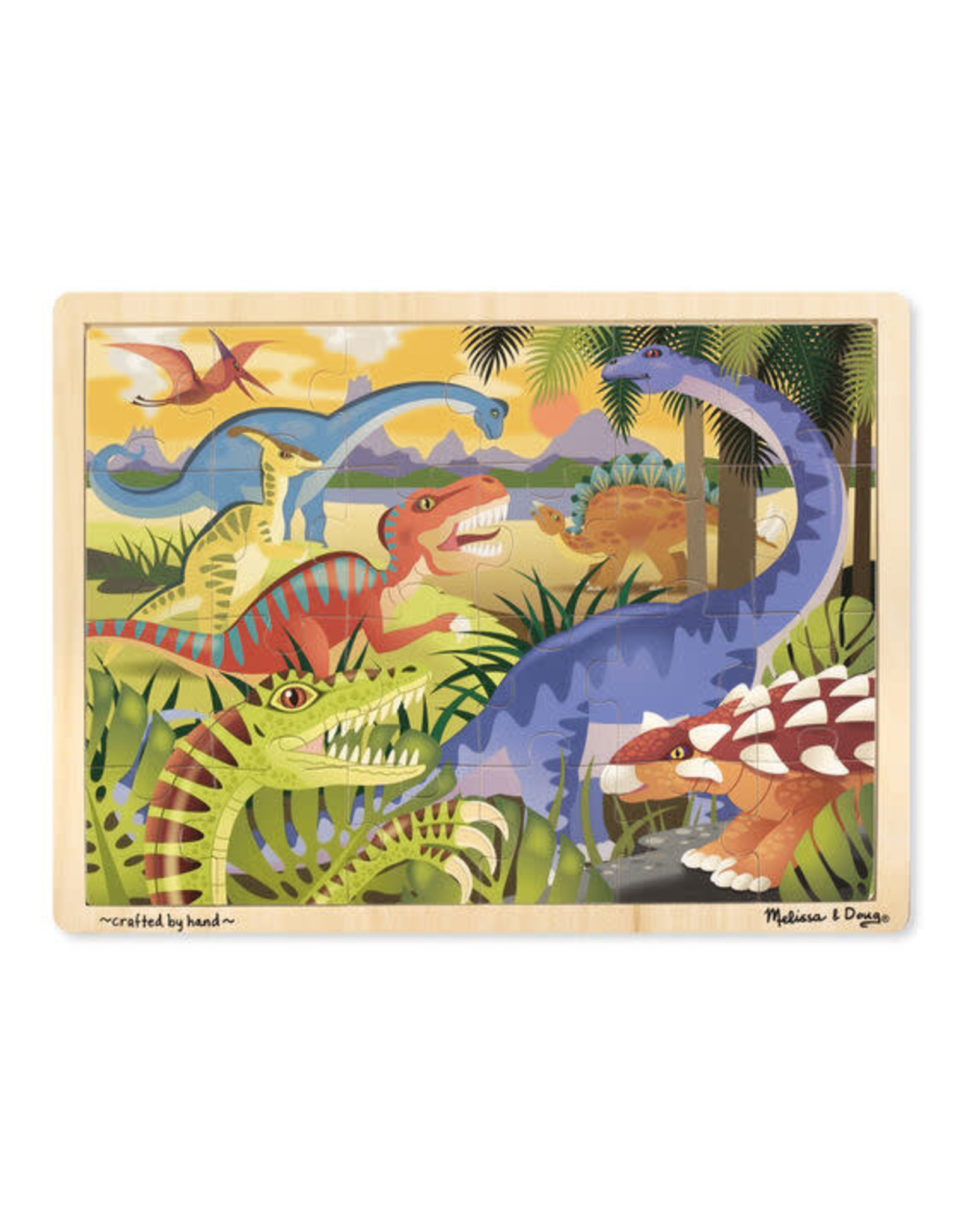 Melissa & Doug 24 Pc Dinosaur Jigsaw Puzzle