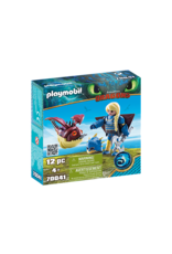 Playmobil Astrid with flightsuit and Hobgobb