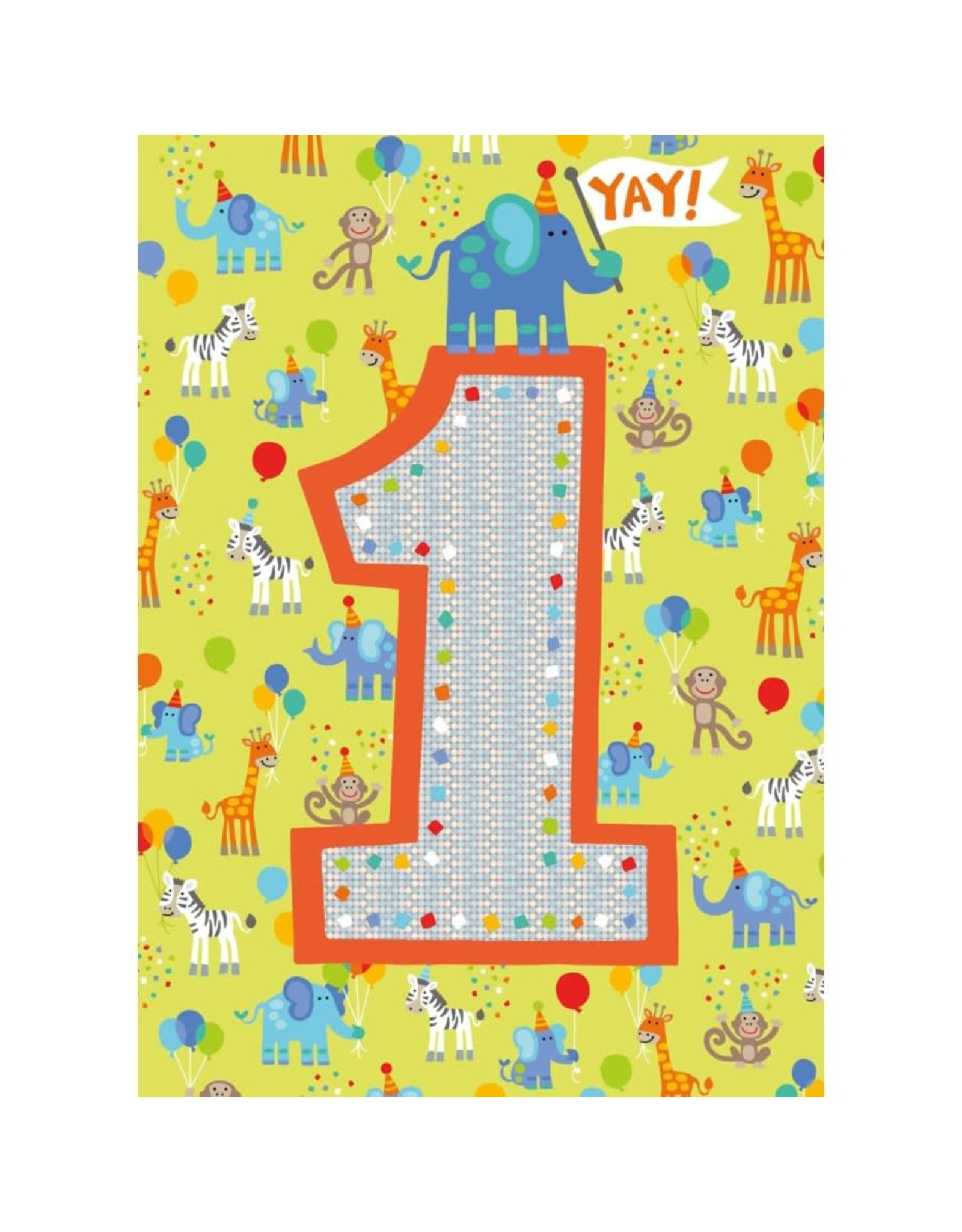 Peaceable Kingdom Age 1 Pattern Foil Card