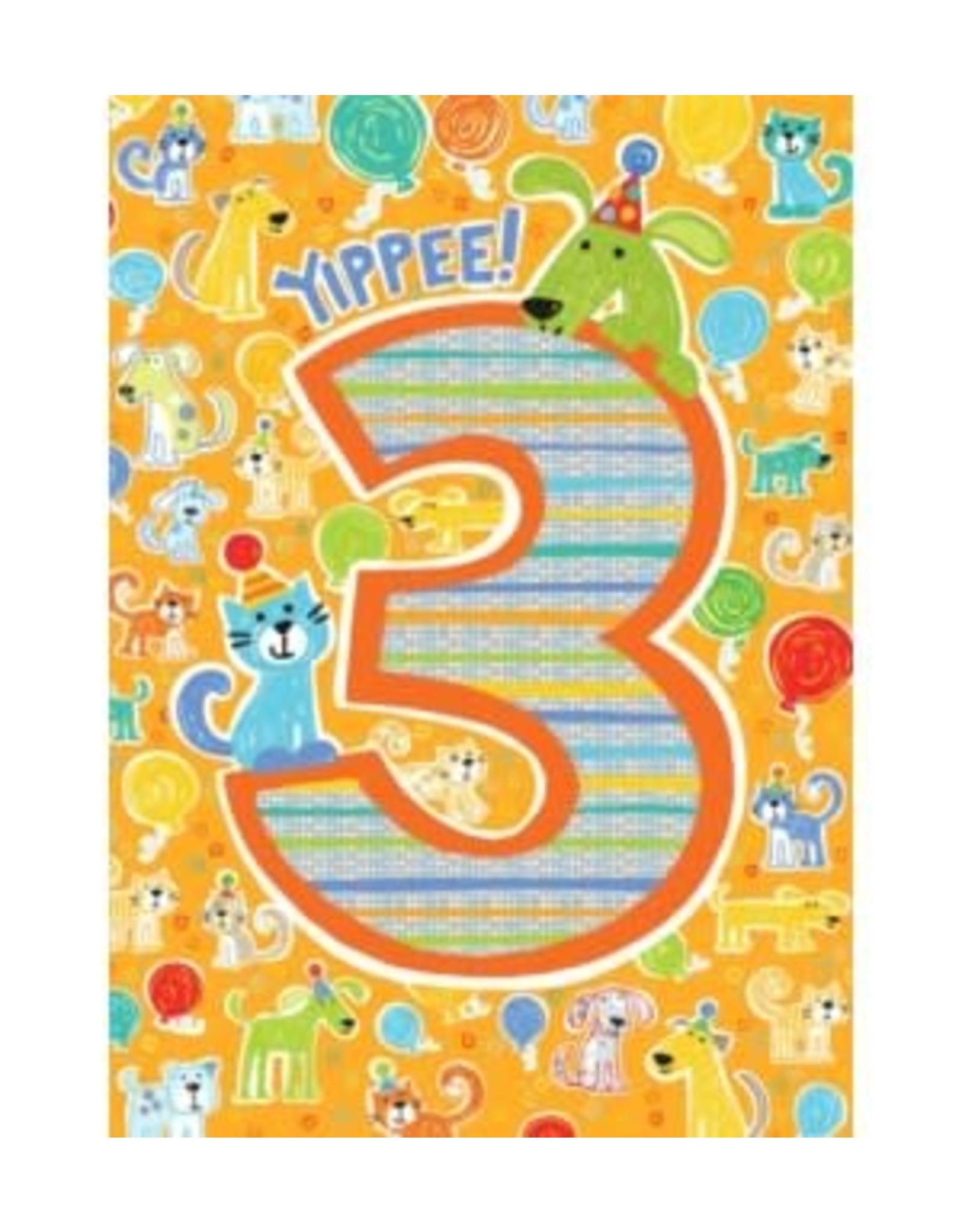 Peaceable Kingdom Age 3 Pattern Foil Card