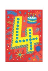 Peaceable Kingdom Age 4 Lettering Foil Card