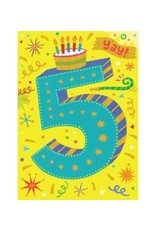 Peaceable Kingdom Age 5 Lettering Foil Card