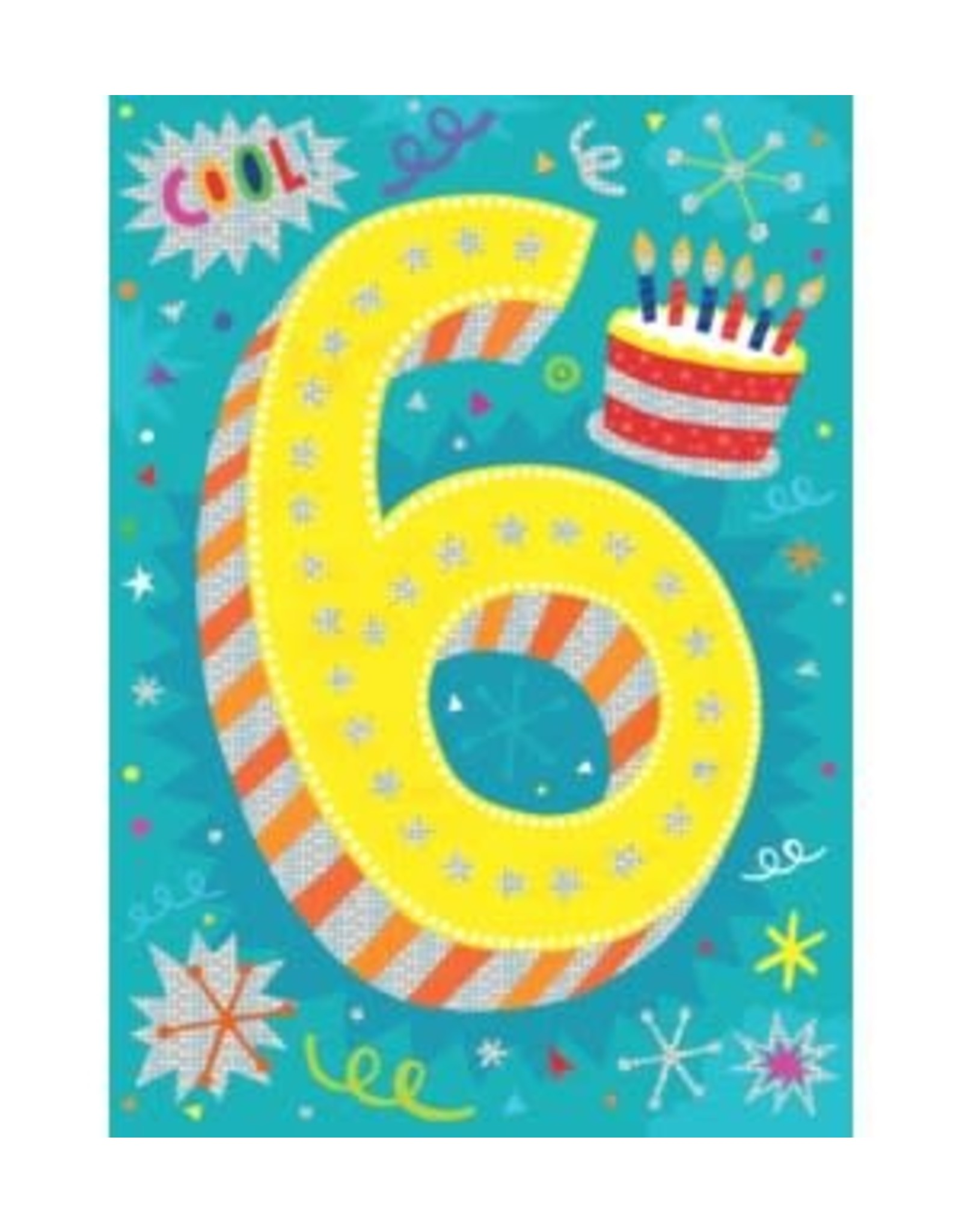 Peaceable Kingdom Age 6 Lettering Foil Card