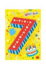 Peaceable Kingdom Age 7 Foil Card