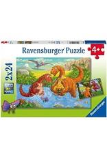 Ravensburger Dinosaurs at Play 2x24 pc